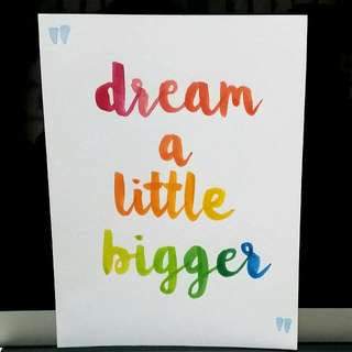 dream a little bigger - handmade card