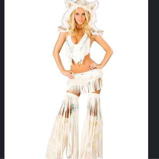 Sexy White Warrior Goddess Costume