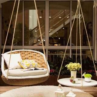 Cosy Indoor Outdoor Hanging Chair Table