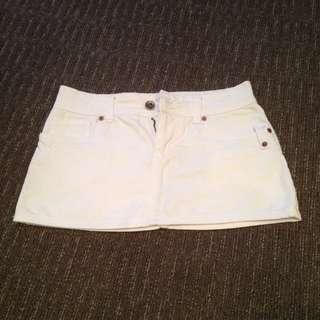 White Denim Volcom Skirt