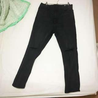 RES black denim jeans