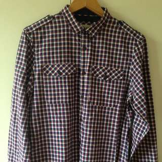 River island Men's Fitted Check Shirt