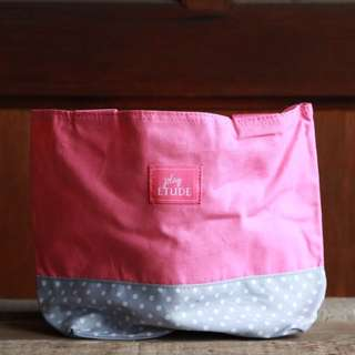 Cute Pink And Gray Tote