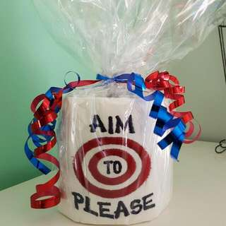 Embroidered Toilet Paper  - Gag Gift