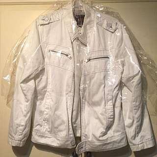 EDWIN 白色風衣外套