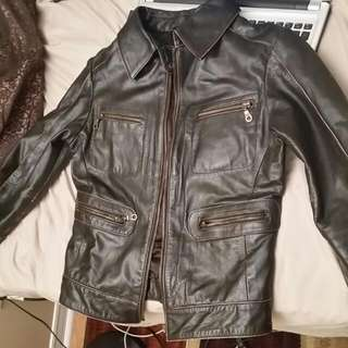 Simons Genuine Leather Jacket (Black)
