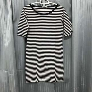 Stripes T-shirt Dress