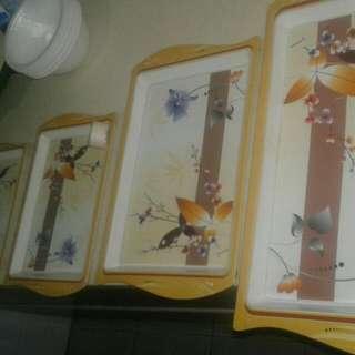 4 Piece Tray Set