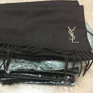 Embroidered Logo Wool Scarf