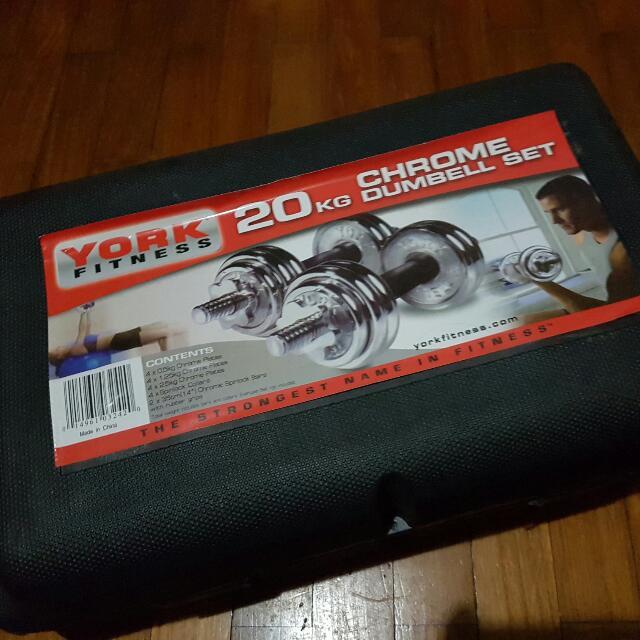 20kg Chrome Dumbell Set