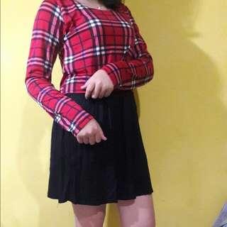 Mini Dresss Kombinasi Kotak
