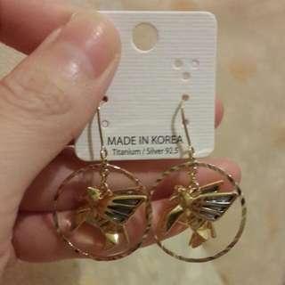 飛馬圓圈耳環(金色)