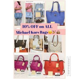 Early Christmas SALE🎉🎊All Michael Kors Bags are now 10% OFF