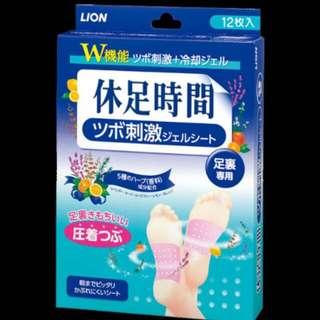 日本購入24枚LlON 休足時間(足裹專用)