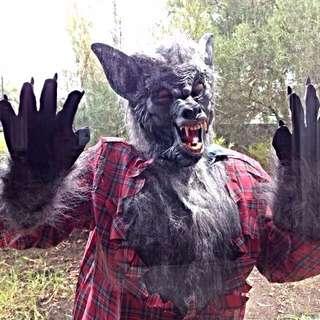 4 piece Werewolf Halloween Costume
