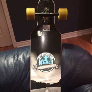 White And blue Longboard