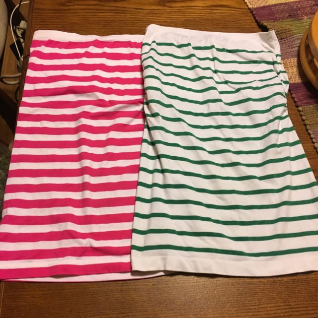 2 Striped Tube Tops