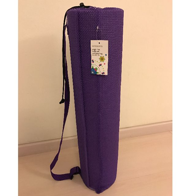 dd246ffdb61e WATSON Yoga Mat With Net Carrying Bag 8mm - Purple Colour