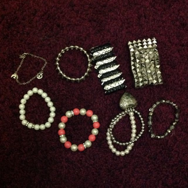 ASSORTED BRACELETS PEARLS STUDS