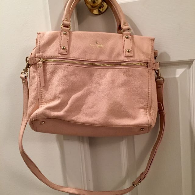 authentic blush kate spade bag