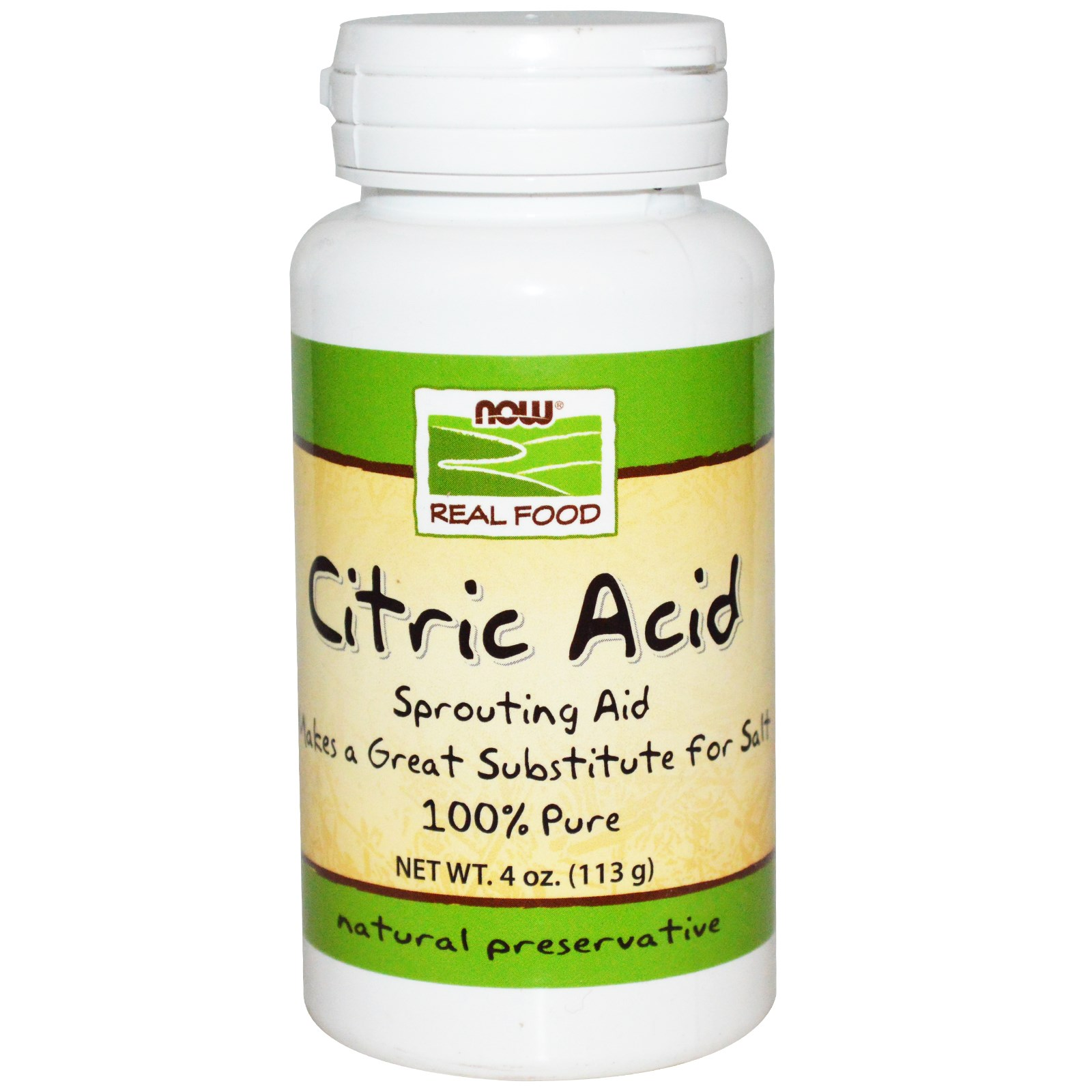 BRAND NEW Now Foods, Citric Acid, 4 oz (113 g), Health
