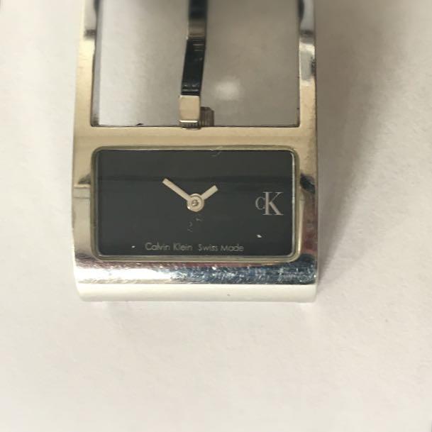 CK Black Leather Watch