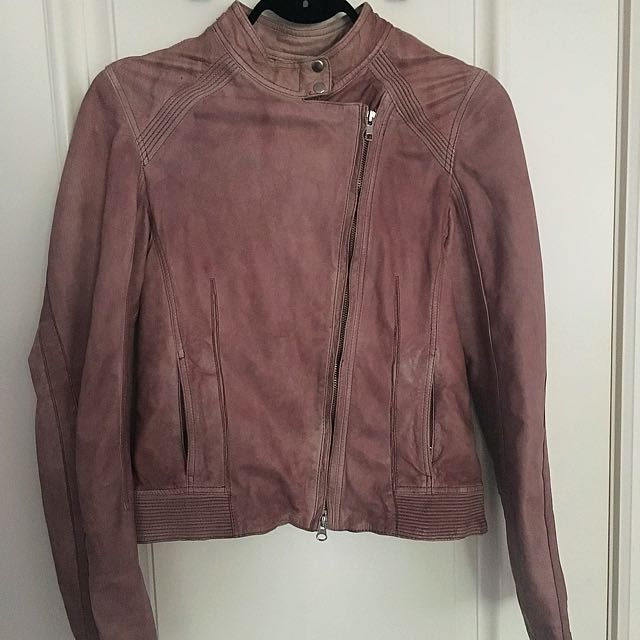 Danier Leather Pink/Brown Jacket