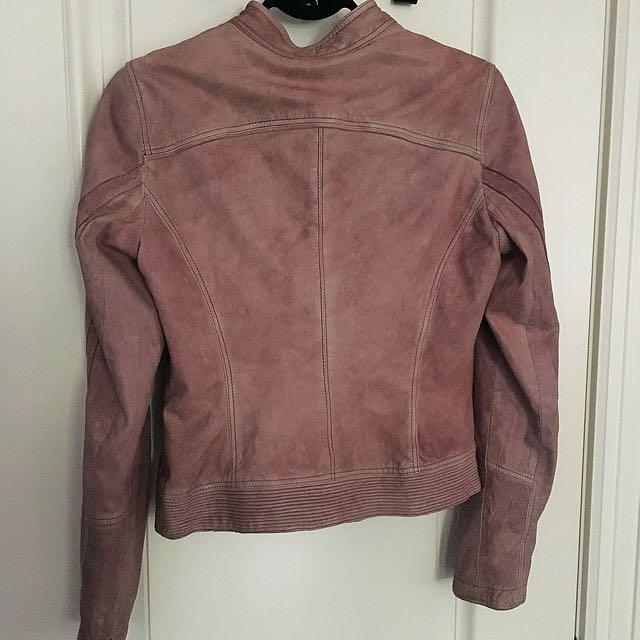 Danier Leather Pink/Brown Jacket