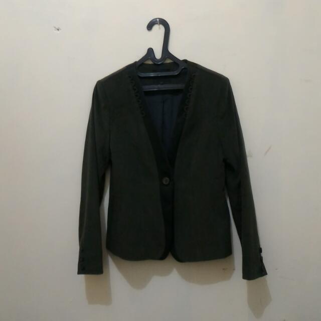 Dark Green Blazer By Cardinal Femmme Ukuran L