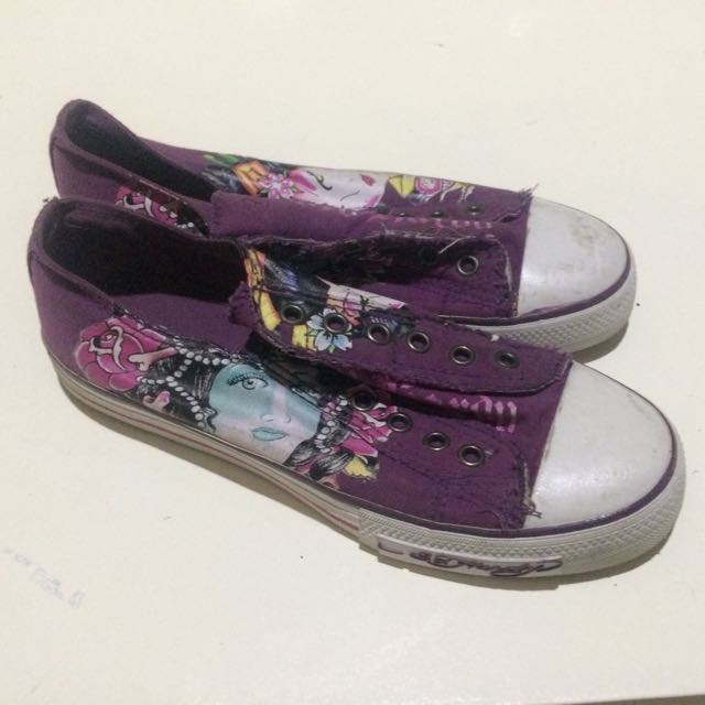 Ed Hardy No Lace Sneakers