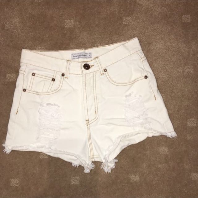 Eleven Rain Drops • High Waisted Shorts • Size 8