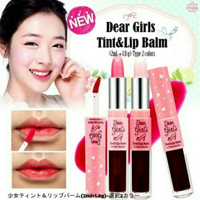 ETUDE HOUSE DEAR GIRLS / YICTS LIP TIN & LIPBALM