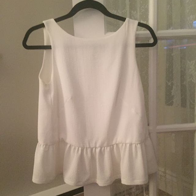 French Connection Top - Open Back Size 0/S