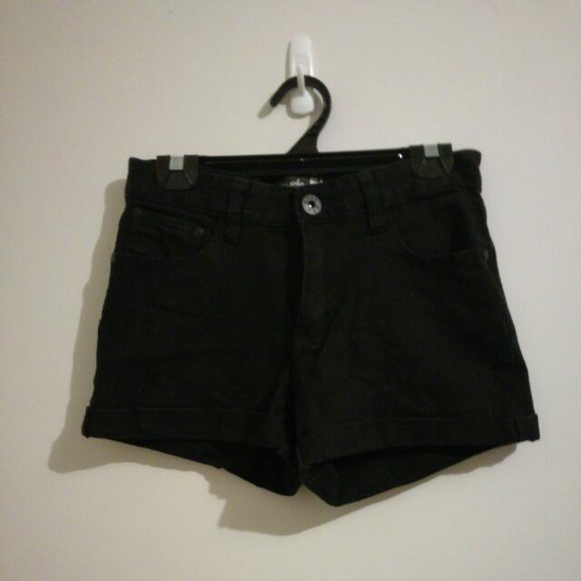 Glassons Black Denim Shorts