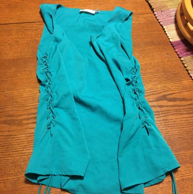 Green Retro D Dress Top