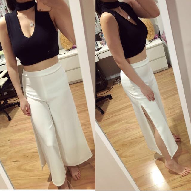 KOOKAI crop Top And White Pants