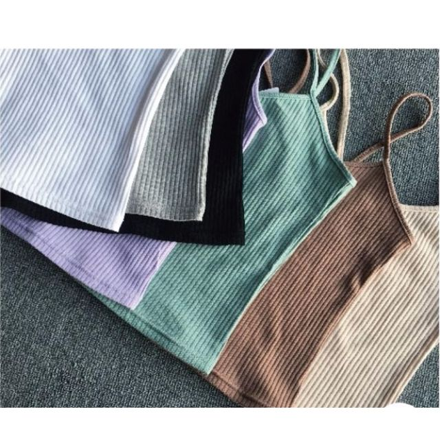 Korean sexy knitted top- sleeveless vest- 7 tops per pack