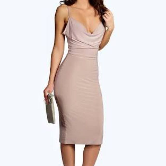 Mauve Cowl Dress