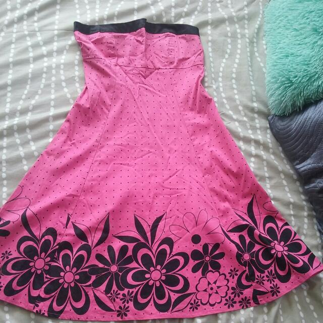 Pink Dress Size 10 Used Once