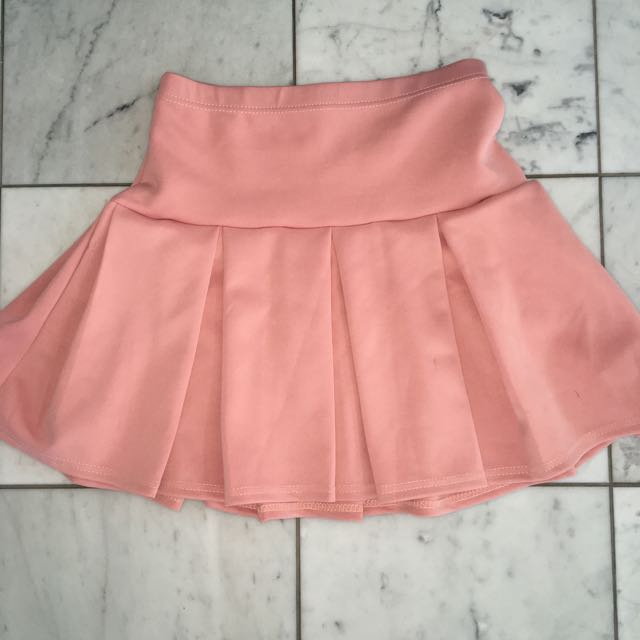 Pleated Skirt Pink Size 10