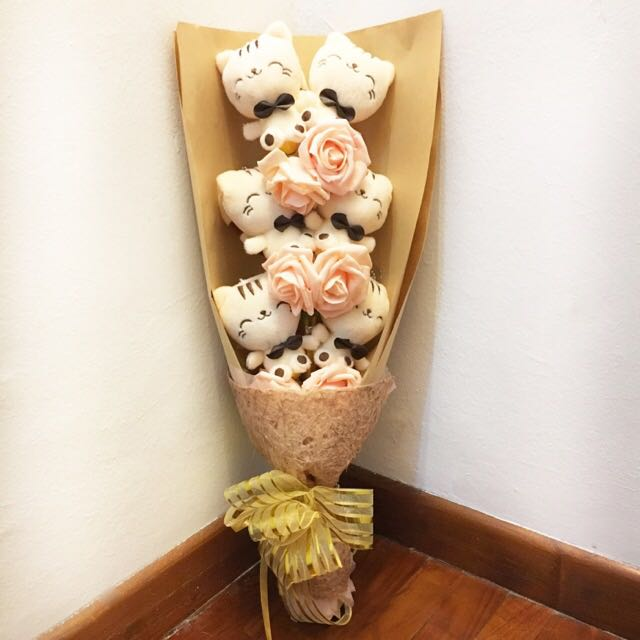 Pusheen Cat Soft Toy Flower Bouquet, Toys & Games, Bricks ...
