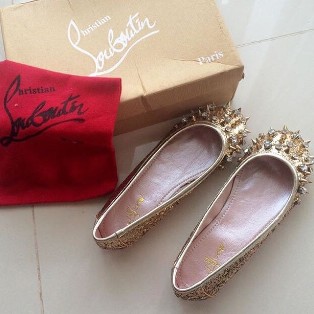 replica christian louboutin flat shoes