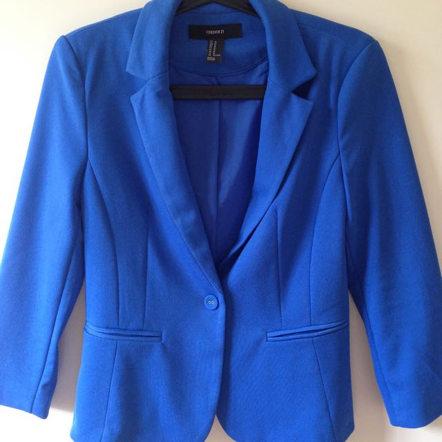 Royal Blue fitted Jacket Blazer