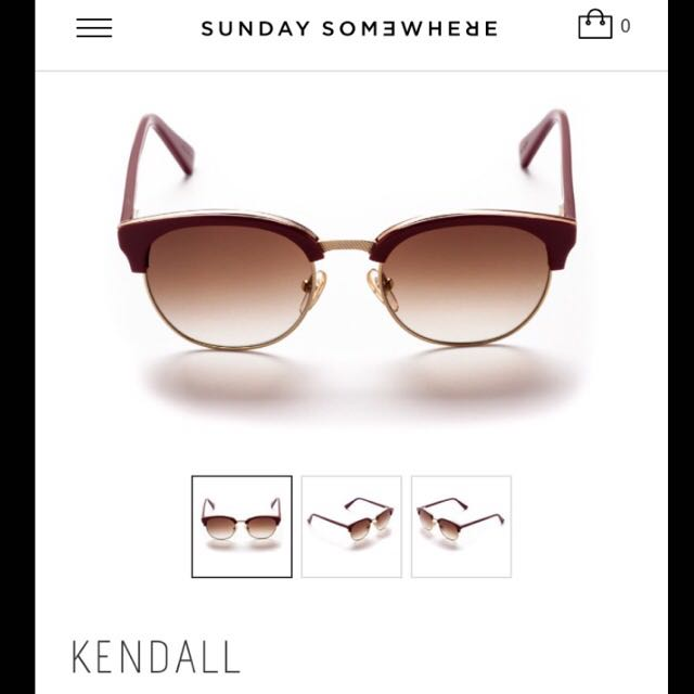 *REDUCED* RRP$290 SUNDAY SOMEWHERE Sunnies - Kendall Burgundy
