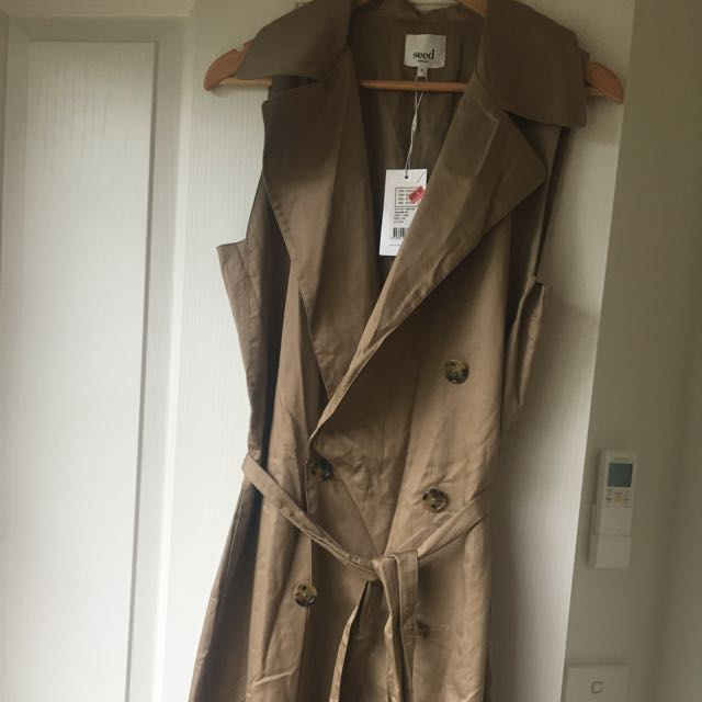 NEW- Seed Trench Dress