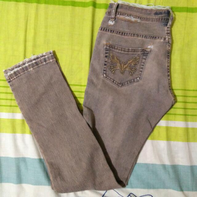 Semi Ripped Skinny Jeans
