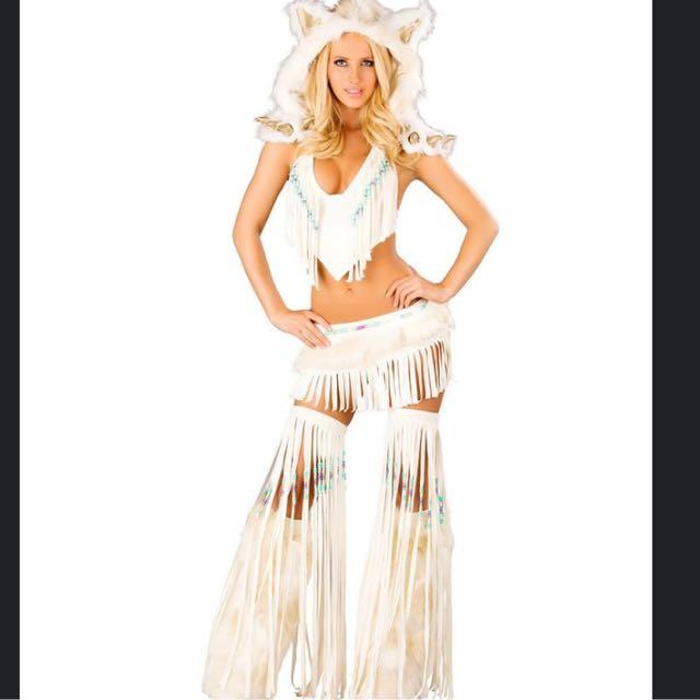 Sexy White Warrior Goddess Costume