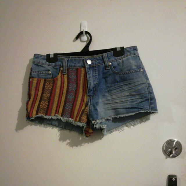 Size 10 Denim Hippie Shorts