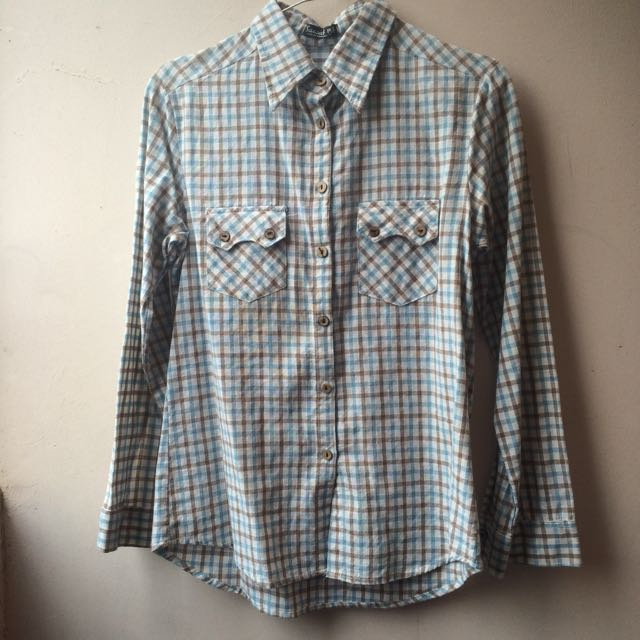 Square Blue&Brown Shirt