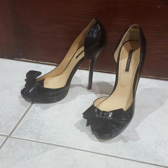 1664393a643 Tony Bianco Bow Tie Patent Stiletto Heel Peep Toe Platform 7 ...